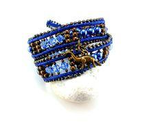 Wickelarmband Blue Mood von Catch In Sky - wunderschöne Einzelstücke   auf DaWanda.com