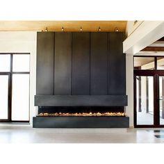 linear fireplace designs | Concrete Design • Linear Concrete Fireplace Surround - Fireplaces ...