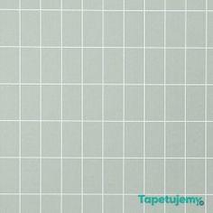 Tapeta Ferm LIVING Grid Dusty Green 161 Kratka