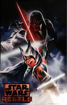 I really want to watch this show!! This looks so sad! Ahsoka Tano going up against Darth Vader (Her former master)
