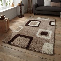 Teppich Lanier in Beige/Braun ScanMod Design Teppichgröße: 120 x 170 cm Teal Rug, Grey Rugs, Diy Carpet, Rugs On Carpet, Faux Fur Rug, Rug Size Guide, Polypropylene Rugs, Area Rug Sizes, Design Furniture