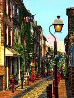 Elfreths Alley, Philadelphia, PA