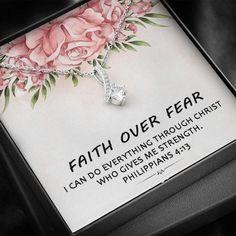 Faith Over Fear I Can Do Everything Through Christ   Etsy