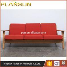 mid century furniture george style platform bench in natural wood ... - Danish Design Wohnzimmer