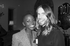 When a picture can tell thousands words! Jared Leto, Lupita Nyong'o and the #mileytongue   Lupita Nyong'o and Jared Leto #2