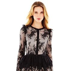 Pearl Georgina Chapman of Marchesa Scallop Lace Jacket #jcpenney