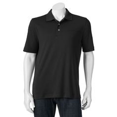 Big & Tall Croft & Barrow® Signature Classic-Fit Pocket Polo, Men's, Size: L Tall, Black