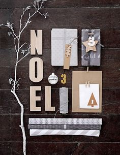 Find lots of beautiful wrapping paper and bits & pieces in the Bloomingville Christmas collection