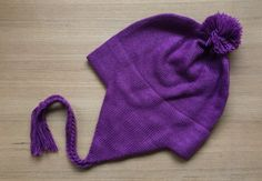 Baby Alpaca Chullo Hat in Purple Orchid. Coming soon: www.alpacaclothingstore.com
