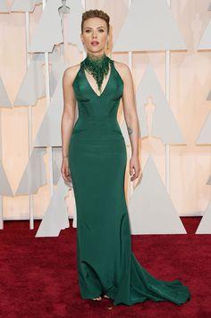 Gallery 2015 Oscars Red Carpet. Scarlett Johansson,  Versace.