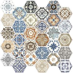 Redefine your space with Mosaic Tiles from the Home Depot. Available in glass mosaic, marble, ceramic, porcelain & more. Hexagon Tiles, Mosaic Tiles, Moroccan Tile Backsplash, Hexagon Backsplash, Moroccan Tiles, Backsplash Ideas, Kitchen Backsplash, Glass Design, Tile Design