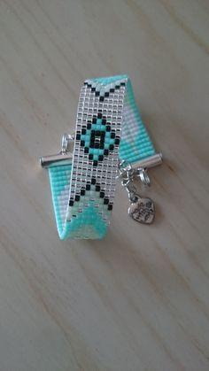 Loom beaded bracelet / Beaded bracelet made with Miyuki delica beads / Native…