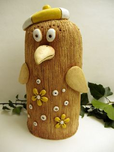 Keramický pták s baretkou Clay Birds, How To Make Clay, Clay Animals, Sculpture, Ceramic Artists, Clay Creations, Ceramics, D1, Home Decor