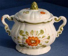 Sarreguemines Venise Pattern Sucrier/Sugar Bowl in Pottery, Porcelain & Glass, Pottery, Majolica | eBay