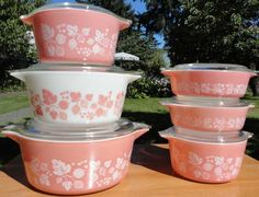 We remember our mums using these vintage pyrex kitchenware. As versatile as Quark -  good for cooking, baking and mixing.