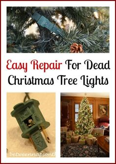 Don't Throw Out Those Dead Christmas Tree Lights - Here are some tips on how you can fix them...
