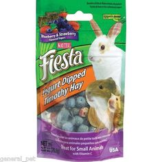 Kaytee Fiesta Timothy Bits Blueberry and Strawberry Small Animal Treats 2 5oz | eBay - $2.99
