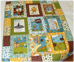 The Lorax Baby Quilt...  Dr Seuss. I found this one on Esty and I just love it.