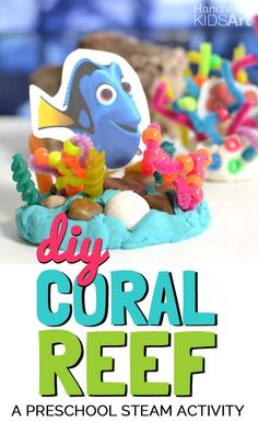 Build your own coral reef inspired by the movie Finding Dory. Part of the 5 day STEAM challenge. Sea Animal Crafts, Animal Crafts For Kids, Art For Kids, Toddler Preschool, Preschool Crafts, Preschool Ideas, Kids Crafts, Thema Hawaii, Coral Reef Craft