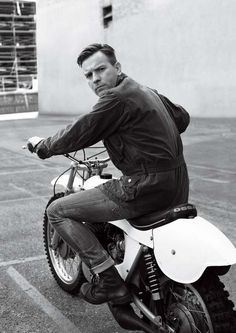 Celeb Biker Gang Lookbooks - The Belstaff Fall/Winter Campaign Stars A-Lister Ewan McGregor (GALLERY), Great shot. But he falls off his dirt bikes more than a 5 year old on a tricycle and the  motor isn't even running, he makes you think he's riding a bike he can't ride.