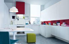 kitchen white and color