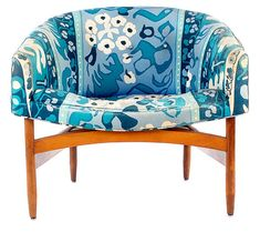 Lawrence Peabody Club Chair Mid Century Danish by VintageLookscom, $395.00