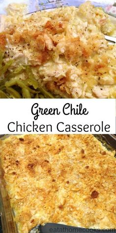 I was in the mood for comfort food and something tex mex. So I smooshed two recipes into one: Green Chile Chicken Casserole. The end result was quite tasty and the comfort food I was looking for. Yum!