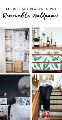 Removable Wallpaper For Renters, Renters Wallpaper, Wallpaper Crafts, Wallpaper Furniture, Kitchen Wallpaper, Apartment Wallpaper, Trendy Wallpaper, Wallpaper Ideas, Home Office Decor