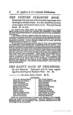 Boys at Home - Charlotte Adams - Google Books. Featuring catalog of Appleton's Juvenile Publications, 1854.