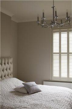 chambre couleur peinture lin et blanc cassé peinture Farrow & ball