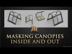 How to create canopy masks for the inside and outside. Plastic scale modelling tutorial - YouTube