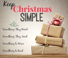 3 Simple Steps to A Minimalist Christmas - LOVE this...  I'm not a big fan of STUFF! We all have too much of it and really don't need it.