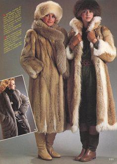 retro fur coat ad
