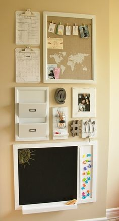 24 Awesome Wall Organization Solutions Call it a command center, drop zone, or w. - 24 Awesome Wall Organization Solutions Call it a command center, drop zone, or whatever you'd lik - Command Center Kitchen, Family Command Center, Wand Organizer, Family Organizer, Wall Mail Organizer, Organization Station, Office Organization, Kitchen Organization Wall, Big Family Organization