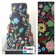 Christi Belcourt @christibelcourt Ever wondered what my art would look like on a cake? This was made for Felicia Gay's wedding. Pretty gorgeous no?