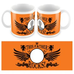 Personalised Father Rocks Mug, upload your Dads pic if you think he truly does rock!!