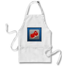 Brushed Metal-look Butcher Steak Aprons