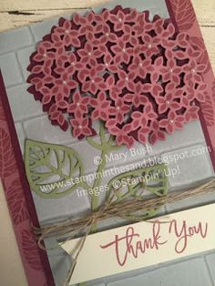 Stampin' in the Sand: Card: Sugarplum Hydrangea
