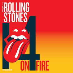 Awesome rolling stones 14 on fire posters