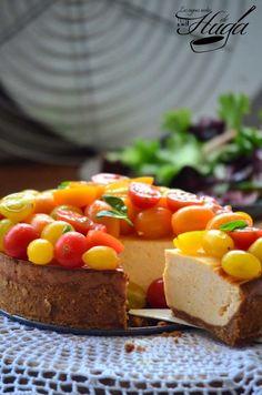 Cheesecake salado con tomates Las mejores recetas de Huga