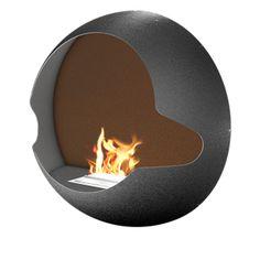 """""""Cupola"""" wall-mounted fireplace by Vauni"""