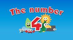 El número 4 en ingles para niños #videoseningles #numeroseningles #videosbb  #videosninos #videoseducativos