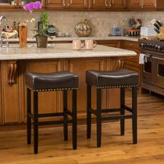 Shop for Christopher Knight Home Louigi Brown Backless Leather Bar Stool (Set of 2). Get free shipping at Overstock.com - Your Online Furniture Outlet Store! Get 5% in rewards with Club O!