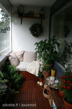 Narrow and cozy balcony