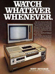 Sony videotape recorder betamax - 1978