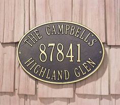 Whitehall Products Hawthorne Standard Oval Aluminum Address Plaque by Whitehall. $89.99. For nearly 70 years, Whitehall Products has been crafting personalized name and Aluminum Address Plaques to provide a distinctive finishing touch to millions of homes. Renown as the world's largest manufacturer of personalized name and Aluminum Address Plaques, Whitehall Products's reputation for quality and reliability is unsurpassed. Few products can add as much valu...