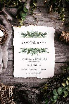 Harry saved the date at HarryModern Watercolor Greenery – – Invitation 2020 Fun Wedding Programs, Printable Wedding Programs, Wedding Signs, Wedding Fonts, Wedding Menu, Wedding Favors, Budget Wedding, Wedding Table, Destination Wedding