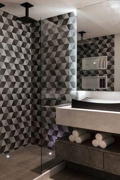 Lavabos e Banheiros: Banheiros modernos por Celia Beatriz Arquitetura