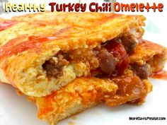 healthy turkey chili omelette