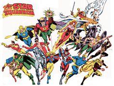 The All-Star-Squadron art by Jerry Ordway.